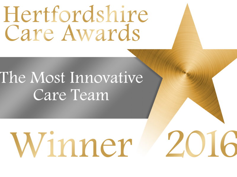 Our Nutrition Team win 'Most Innovative' Award
